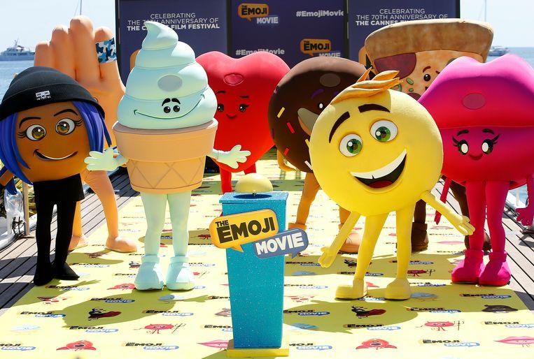Karakters uit 'The Emoji Movie'. Beeld EPA