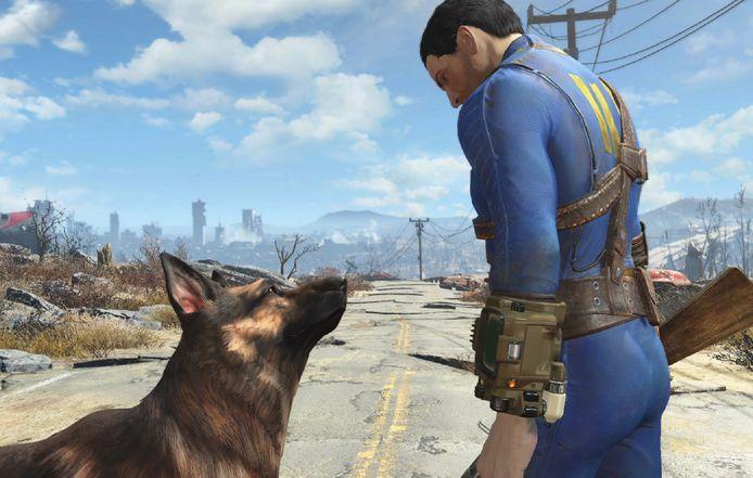 De gamehond Dogmeat was gebaseerd op een echte Duitse herder, River.