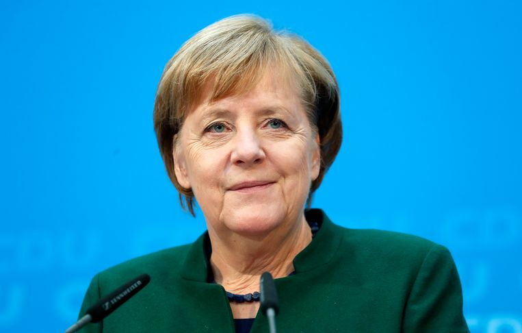 Duits bondskanselier Angela Merkel. Beeld EPA