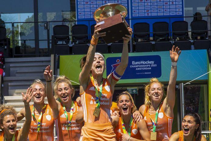 De Nederlandse hockeysters werden voor de elfde keer Europees kampioen.