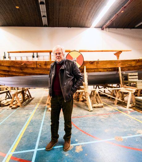 Historische boot: Coos (78) bouwde in drie jaar een écht Vikingschip