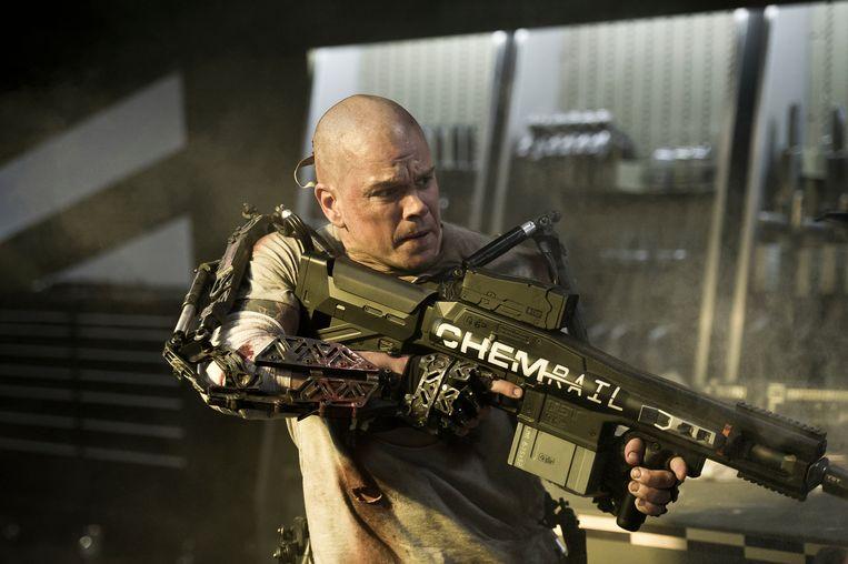 Matt Damon in Elysium. Beeld Elysium