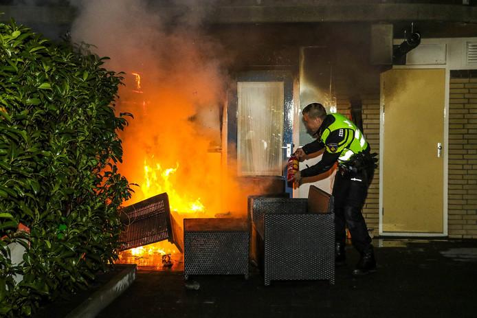 Brand in De Besterd in Oosterhout.