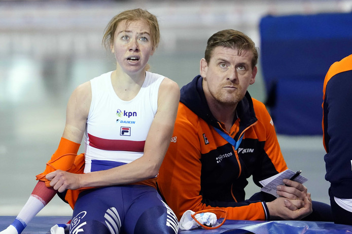 Esmee Visser en coach Peter Kolder.