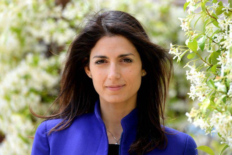 De 37-jarige advocate Virginia Raggi, in de running om burgemeester van Rome te worden Beeld AFP