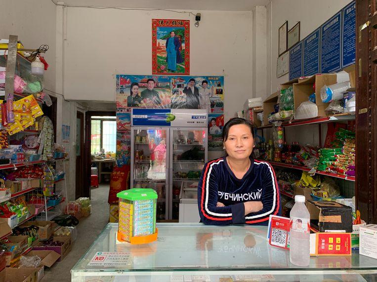 Yuan Hua Jian in haar winkel. Beeld Eefje Rammeloo