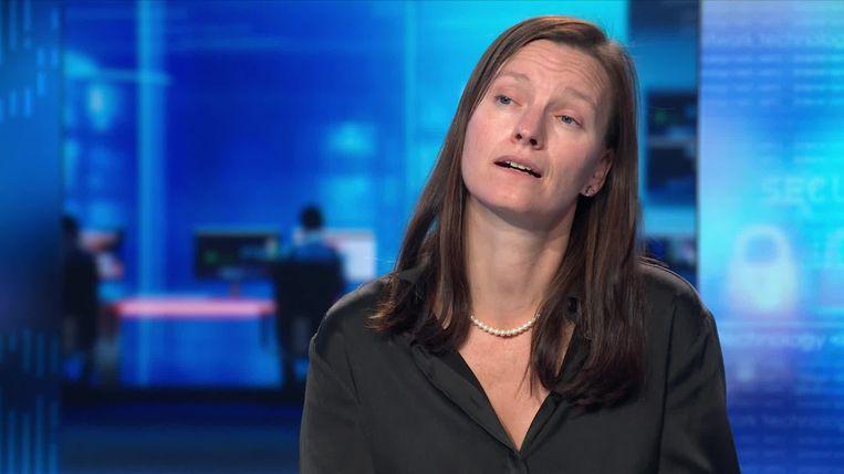 Liesbet Stevens van het Instituut voor Gelijkheid van Mannen en Vrouwen. Beeld Printscreen video VTM Nieuws