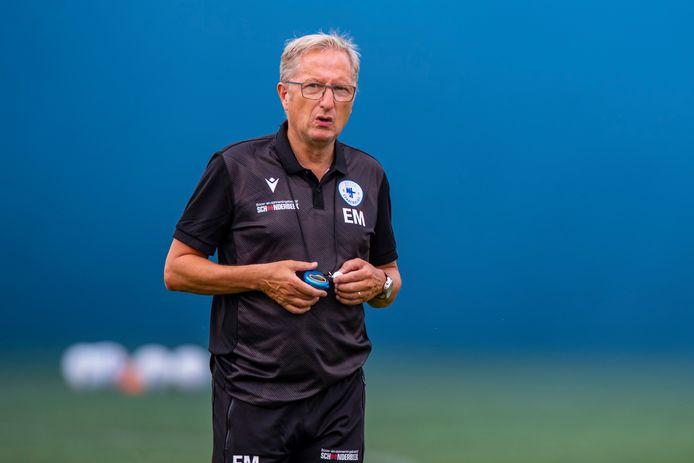 Trainer Eric Meijers van Spakenburg.
