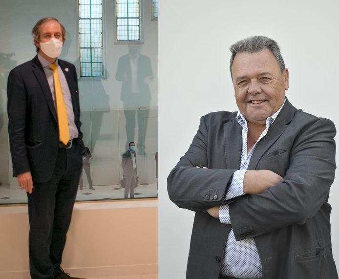 Burgemeester Lieven Dehandschutter (N-VA) en Frans Wymeersch (Vlaams Belang).