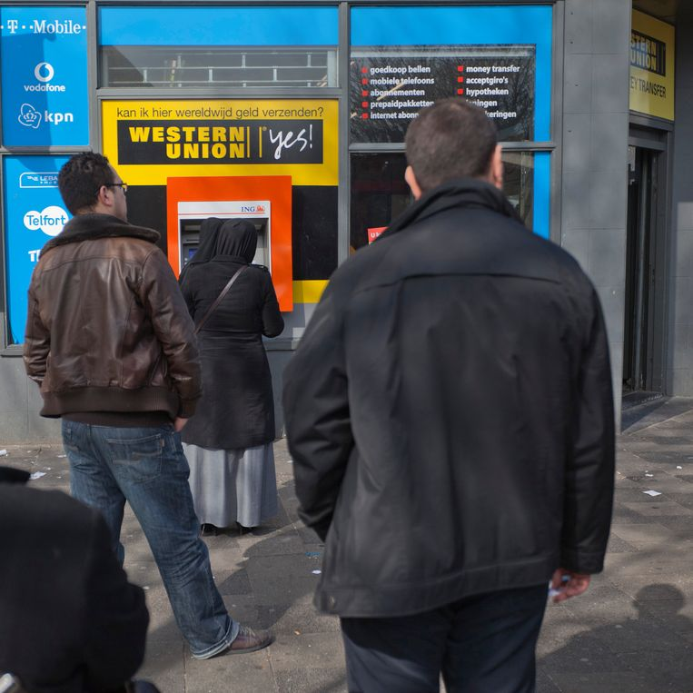 Een geldautomaat in Transvaal. Beeld Nederlandse Freelancers