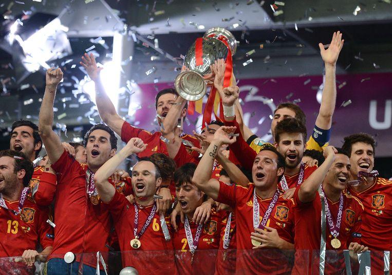 Spanje won de EK-finale in 2012. Beeld Getty Images