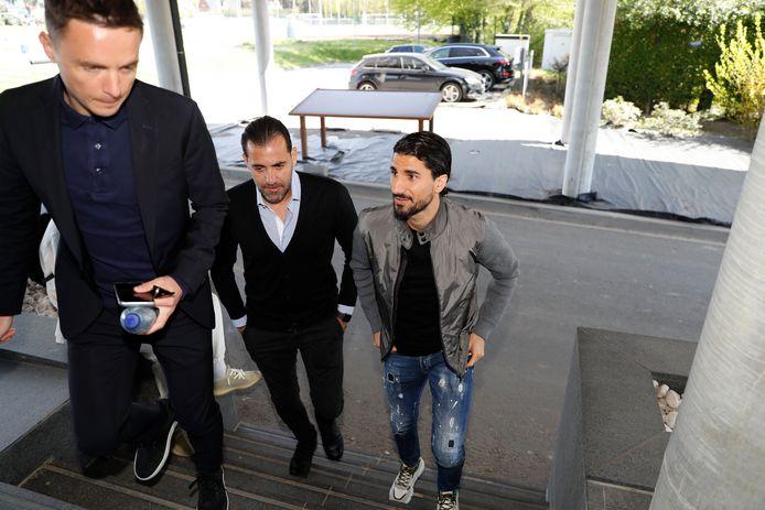 Lior Refaelov op Neerpede met Peter Verbeke (links).