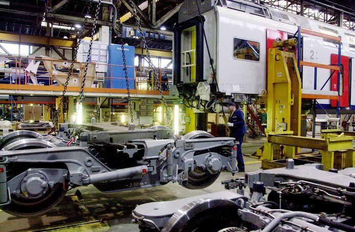 Archieffoto van Bombardier Brugge. Een nieuwe grote bestelling van de NMBS doet de trein- en trambouwer veel deugd.
