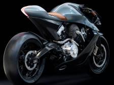 Aston Martin's eerste motorfiets kost 108.000 euro, maar je mag er niet de openbare weg mee op