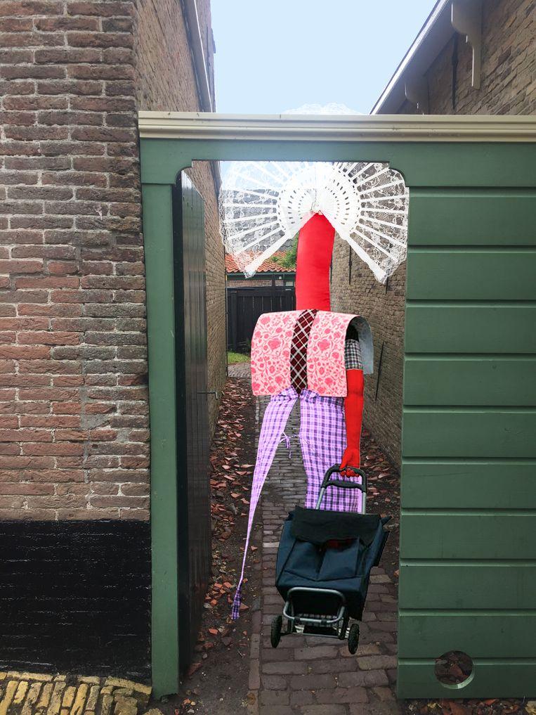 Kunstwerk van het collectief Das Leben am Haverkamp. Beeld