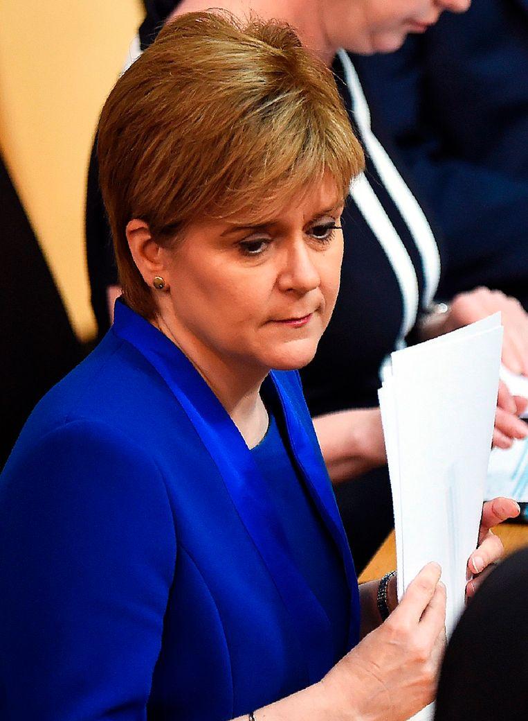 Schots premier en voorzitter van de nationalistische partij SNP Nicola Sturgeon. Beeld AFP