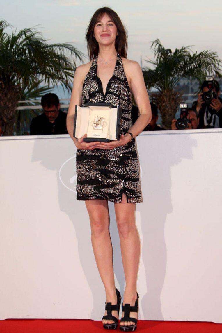 Actrice Charlotte Gainsbourg ontving de prijs voor beste actrice voor haar rol in het omstreden Antichrist van Lars von Trier. Foto EPA Beeld