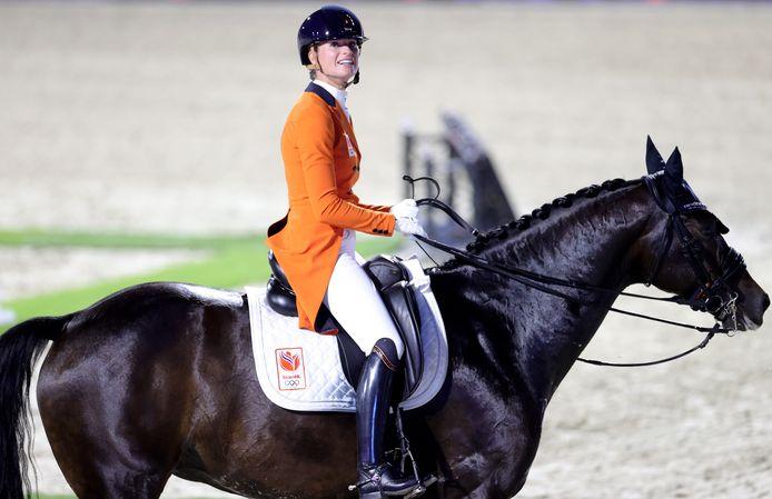Dinja van Liere, hier in actie in Hagen, pakte in Aken de overwinning in de Grand Prix.