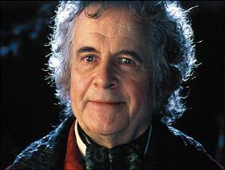 Ian Holm als Bilbo Baggins in Lord Of The Rings. Beeld