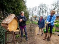 Vrijwilligers van de moestuin op Landgoed Klarenbeek doen alles om bijen te helpen overleven