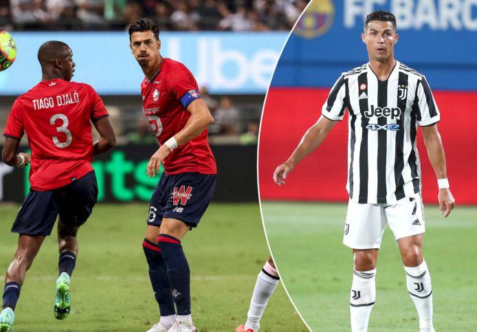 José Fonte probeert zijn landgenoot Cristiano Ronaldo over te halen om naar Lille te komen.