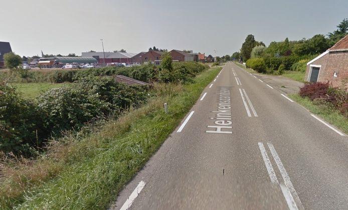 De plek waar het ongeluk gebeurde