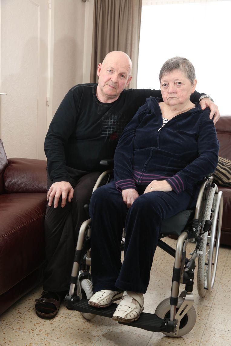 Marie-Claire Moreels en haar echtgenoot Philippe Reyntjens, op een foto uit 2015.  Beeld Henk Deleu
