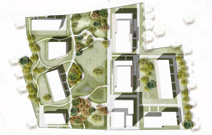 Het voorontwerp van het bouwproject op de Keirlandse Zillen.