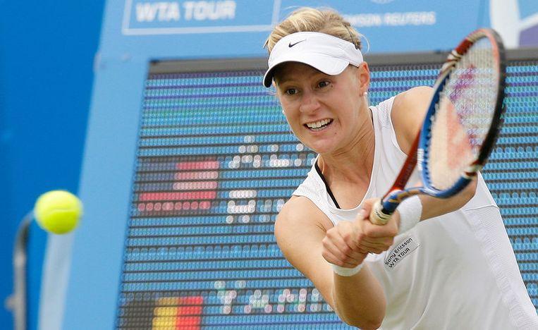 Alison Riske versloeg Yanina Wickmayer in drie sets. Beeld UNKNOWN