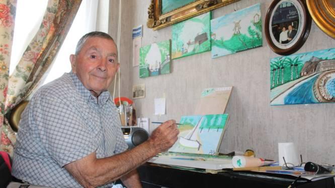 """André Vandersteene ontdekt pas op zijn 83ste talent als kunstschilder: """"Nooit eerder tijd gehad om dit te doen"""""""