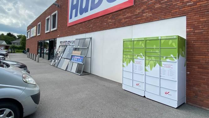 Nieuwe pakjesautomaat bpost aan Hubo in Wuustwezel