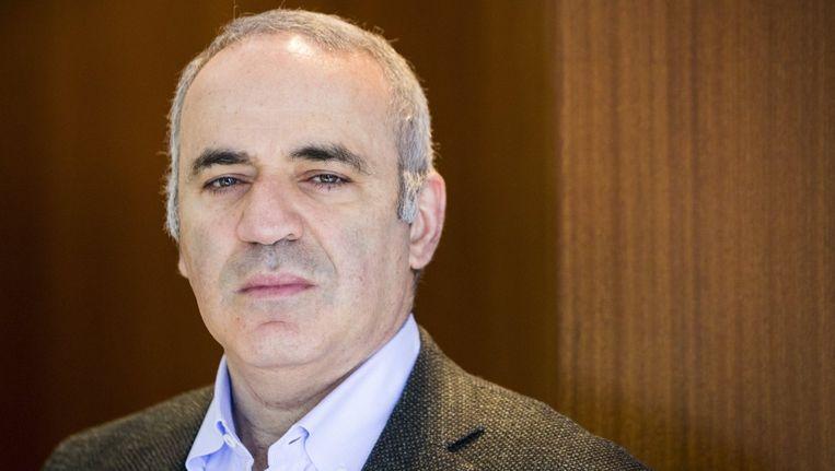 Garry Kasparov, oud-schaakmeester en nu politiek activist tegen het regime van de Russische president Poetin. Beeld photo_news