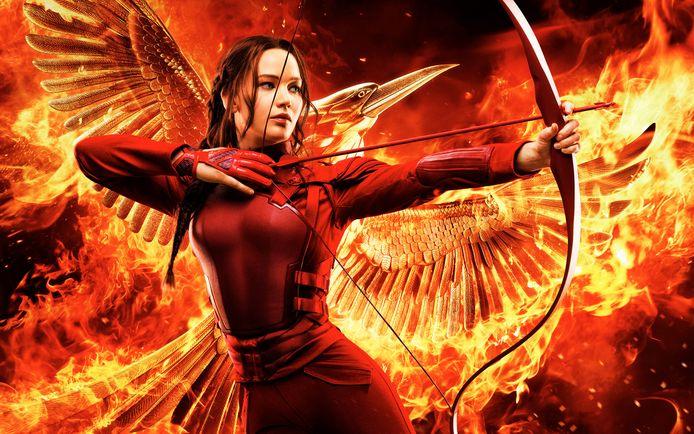 Jennifer Lawrence is Katniss Everdeen in de boeken- en filmtrilogie The Hunger Games.