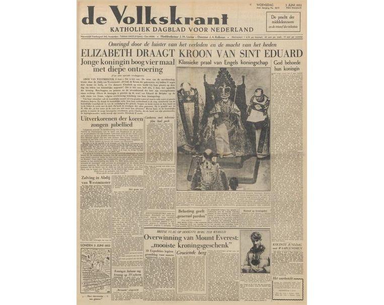 De Volkskrant van 2 juni 1953. Beeld