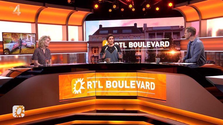 Han Lips zag de worsteling van presentatoren Vivienne van den Assem en Luuk Ikink. Beeld RTL Boulevard
