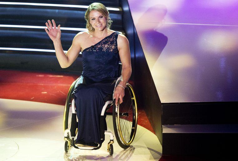 Esther Vergeer op het NOC*NSF Sportgala 2013. Beeld anp
