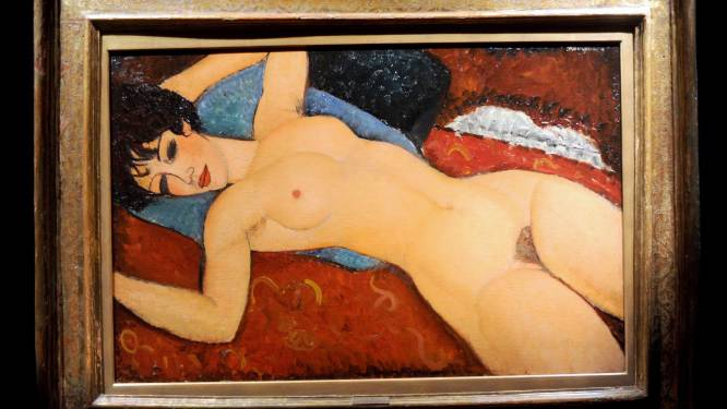 Naakt van Modigliani geveild voor 158 miljoen euro