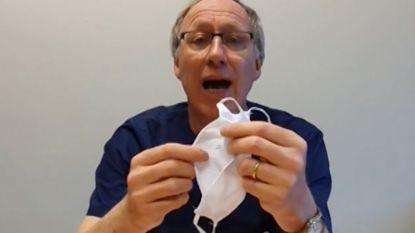 Brusselse dokter roept op om mondmaskers te dragen op straat, maar dat is volgens Van Ranst nog niet nodig