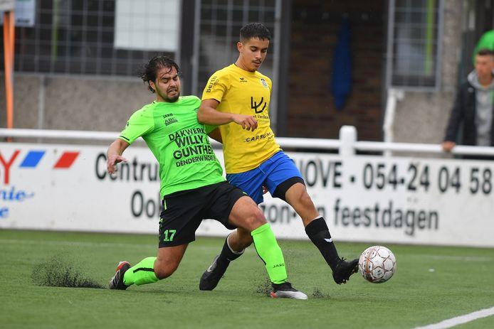 Walid Houssane eiste onbewust een hoofdrol op in de oefenmatch tegen Ninove.