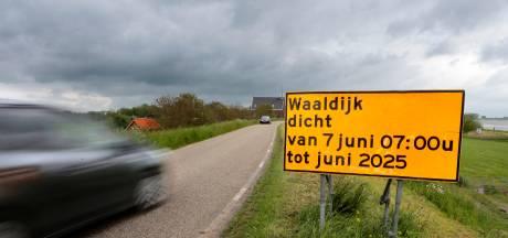 Waaldijk tussen Vuren en Waardenburg is vier jaar lang dicht (maar wel steeds in stukjes)