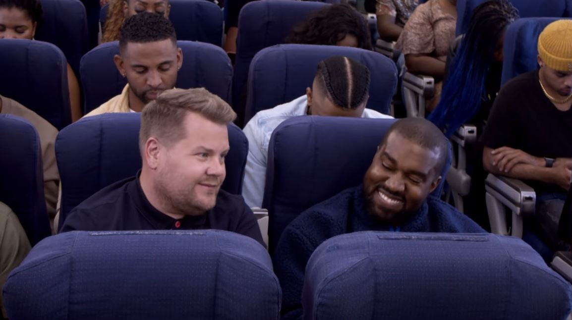 Kanye West en James Corden