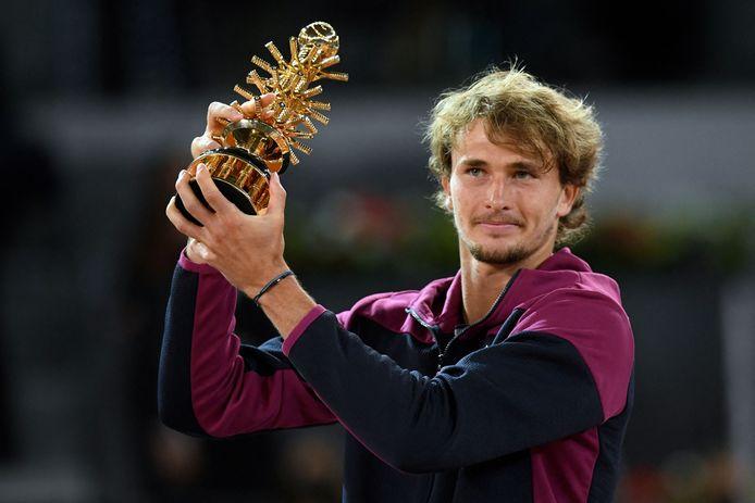Alexander Zverev wint voor de tweede keer het masterstoernooi van Madrid.