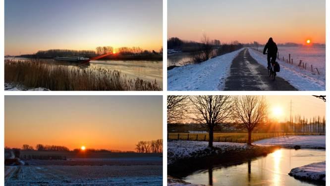 Zonnig en koud, zonsopgang zorgt voor prachtige weerfoto's
