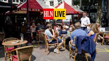 HLN LIVE. Nederlanders kunnen weer een terrasje doen, onder strikte voorwaarden: Belgen jaloers