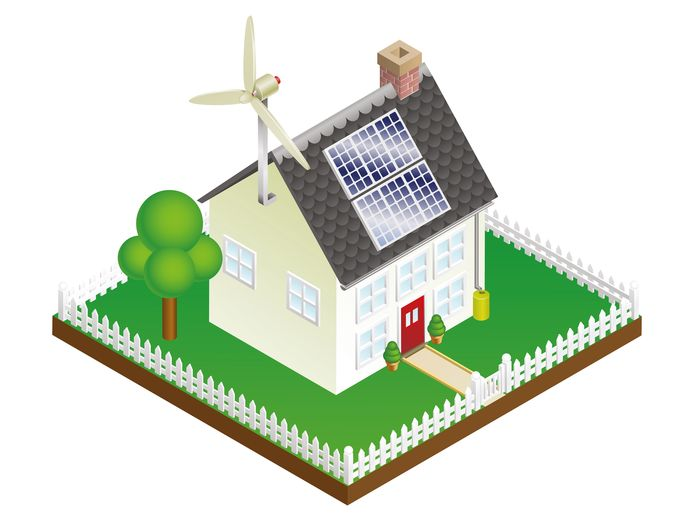 Energieneutraal huis ter illustratie.