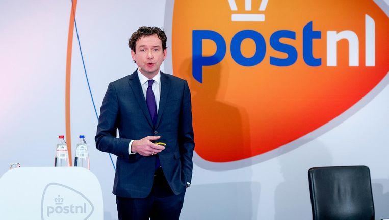 Jan Bos, CFO van PostNL. Beeld anp