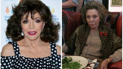 Joan Collins (85) zwaar onder de make-up om er... 85 uit te zien