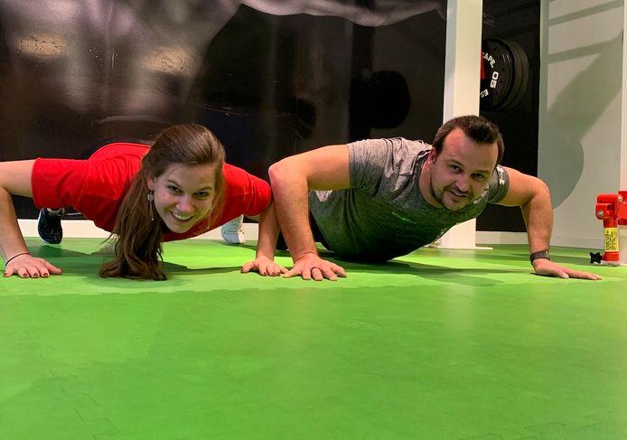 Valerie Fornoville en Kenneth Van Daele van fitness Move To Happiness.