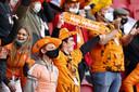 Supporters tijdens de WK-kwalificatie wedstrijd tussen Nederland en letland in de Johan Cruijff Arena op 27 maart.