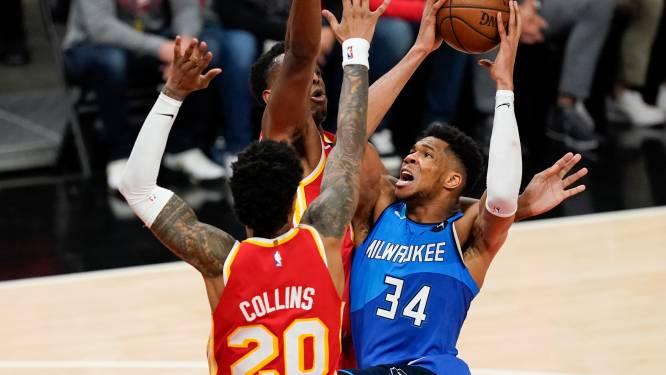 Bucks nemen de leiding tegen Atlanta: tandem Giannis-Middleton goed voor 77 punten